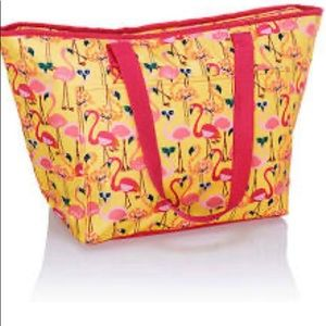 Thirty-One Lets Flamingo Tote-ally Thermal Bag NWT